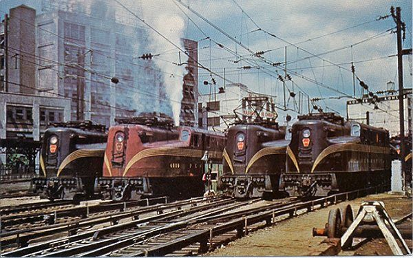 Electric locomotive postcards at VistaDome.com
