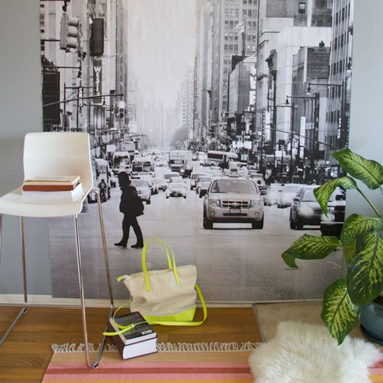 Learn how to make oversized photo prints into a mural for your apartment or dorm room!