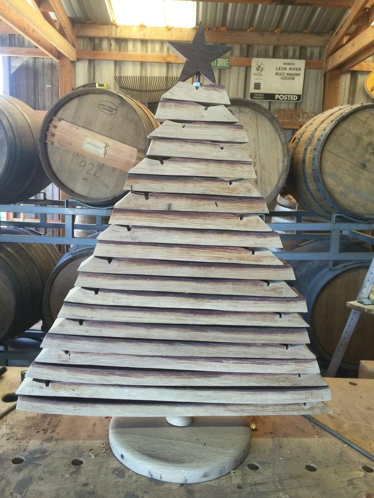 Barrel Stave Christmas Tree 29 best Wine