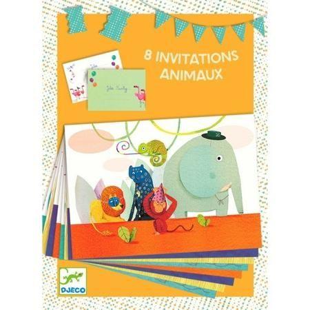 """DJECO Пригласительные открытки """"Саванна""""  — 427р. ---- Пригласительные открытки «Саванна» от французской компании Djeco – это результат кропотливой работы профессиональных художников, компания отличается своим уникальным дизайном игрушек, также уделяя особое внимание качеству и безопасности.  В наборе 8 ярких открыток и 8 разноцветных конвертов. На каждой из карточек изображены веселые обитатели жаркой саванны.  Открытки можно использовать в качестве пригласительных на детский праздник…"""