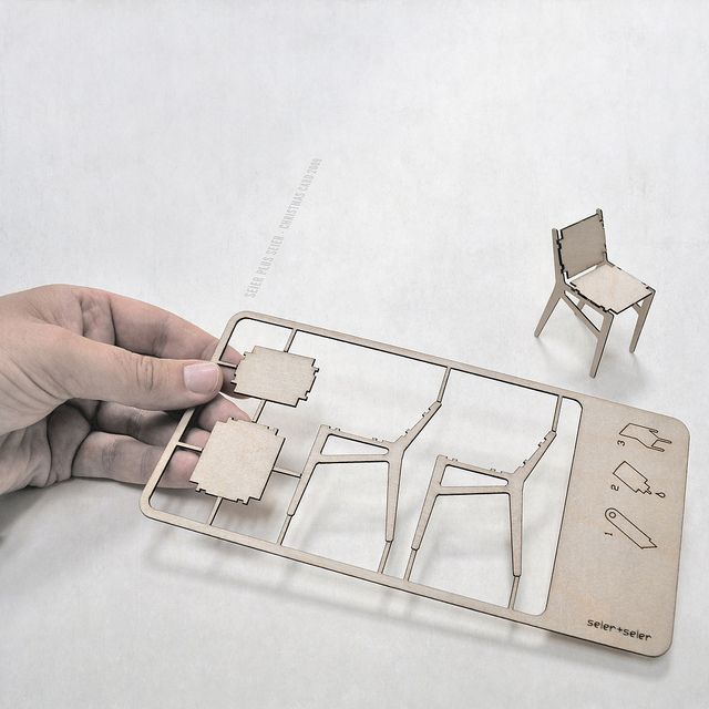 seier+seier plywood chair christmas card by seier+seier, via Flickr