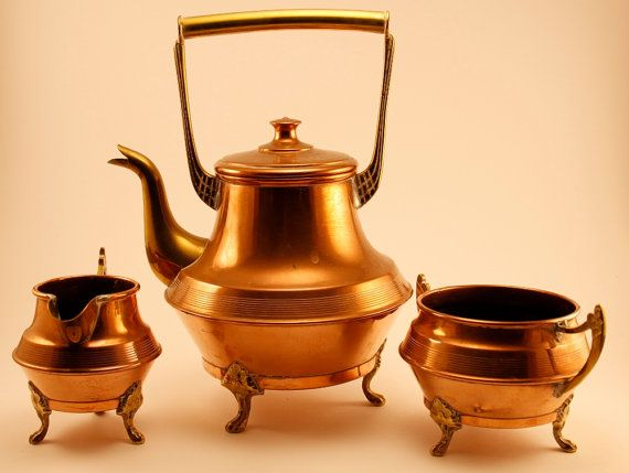A Set of Swedish Vintage Copper Coffee Pot by ScandicDiscovery