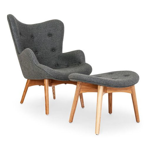 Found it at AllModern - Contour Grant Featherston Wing Arm Chair and Ottoman