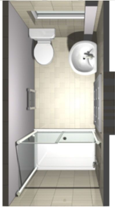 3D image of ensuite shower room design from above