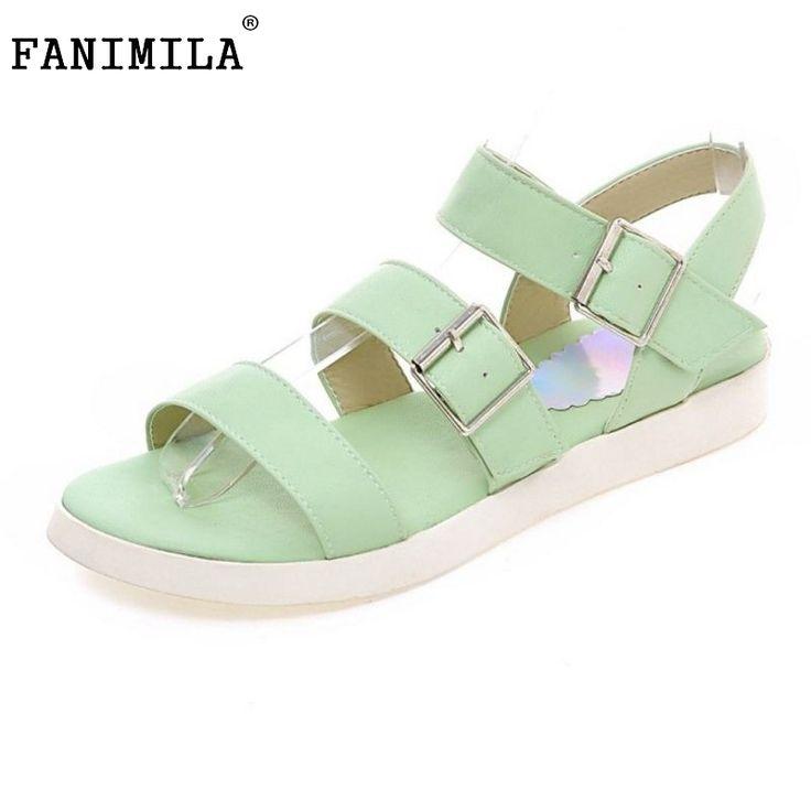 Summer Women Flat Sandals Sexy Casual Fashion Female Beach Flip Flops Women Flats Back Ankel Strap Shoes Size 34-40 PA00757