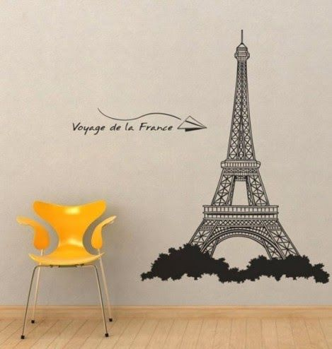 Vinyl Decals Stickers Eiffel Tower  For Maycieu0027s Room Part 56