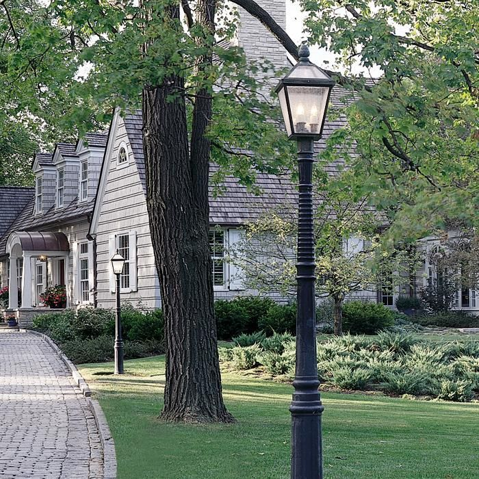123 best images about post lights for yard on pinterest for How to install driveway lights