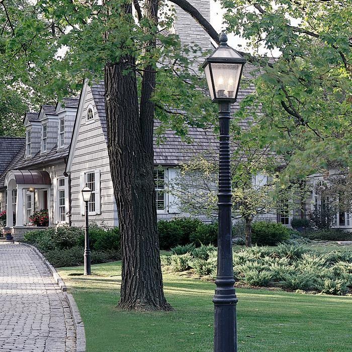 123 best images about post lights for yard on pinterest for Driveway landscape lighting