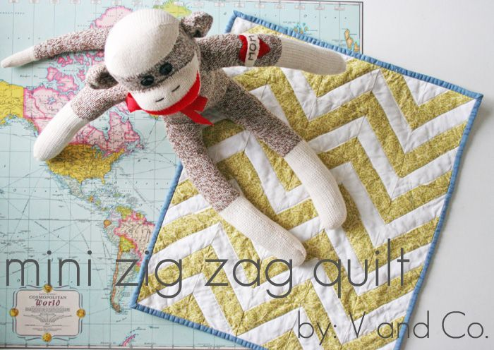 how to: mini zig zag quilt