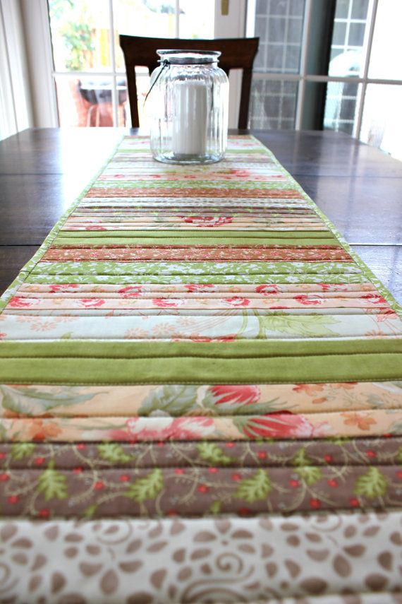 Table Runner  Patchwork Table Runner  by StrawberryFieldQuilt