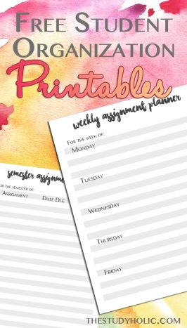 Plan Out Your Semester (free printable!) | Free resource for college students to help them stay organized. Includes and assignment planner!