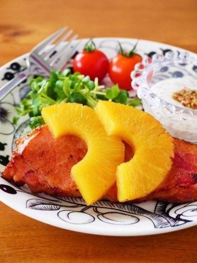 ハワイ風パイナップルハムステーキ♪お歳暮ハムで簡単おいしいレシピ ...