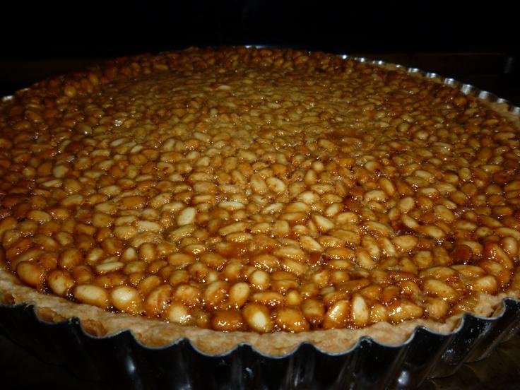 I made a honey pine nut tart! Sooo delicious