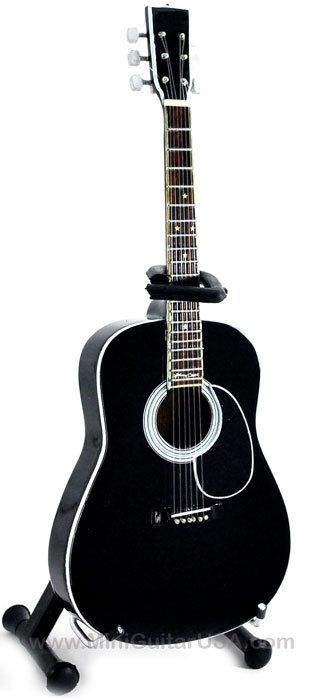 johnny cash miniature guitar replica collectible black cash acoustic johnny cash acoustic and. Black Bedroom Furniture Sets. Home Design Ideas