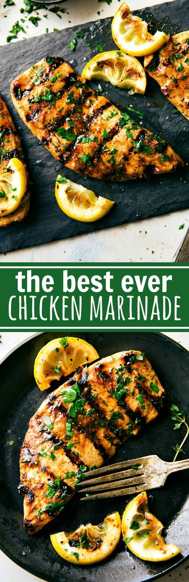 The absolute best chicken marinade recipe! Easy and delicious via chelseasmessyapro...