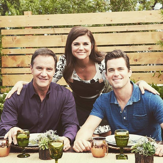 "@tim_dekay and Matt are guests by Tiffani Thiessen on her show ""Dinner At Tiffani's"" on January 8!  #mattbomer #timdekay #tiffanithiessen #dinnerattiffanis"