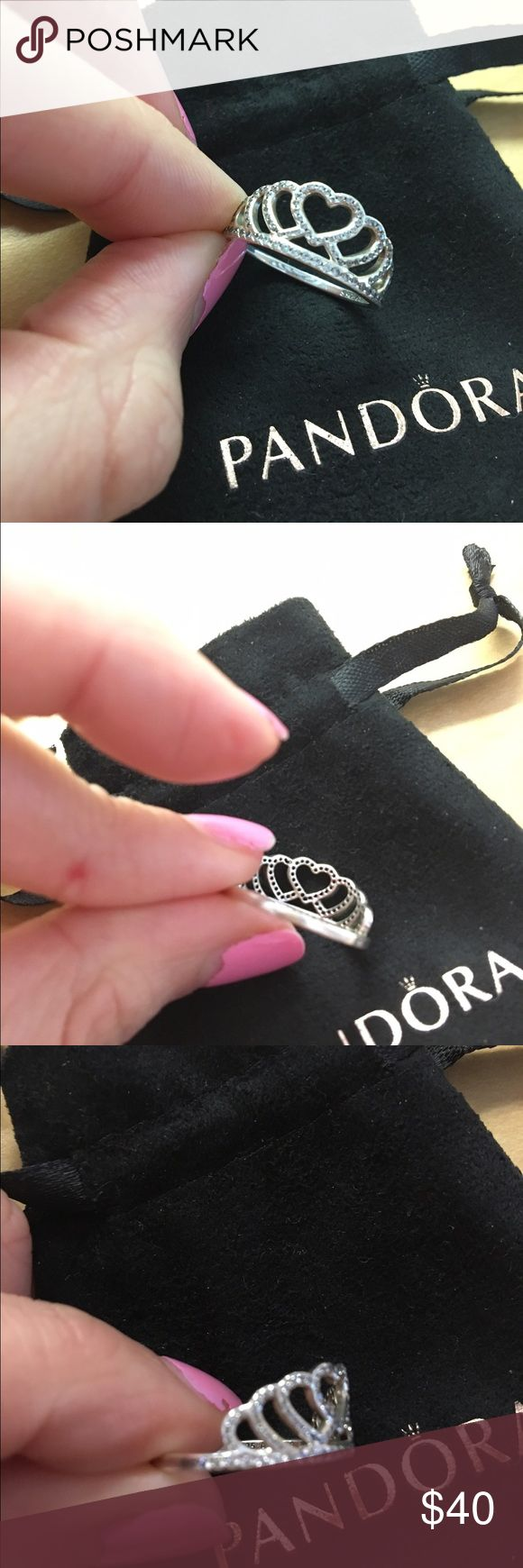Pandora 'Hearts Tiara' Basically new, bought last year and never really wore it. Offer up ! Runs a little big Pandora Jewelry Rings