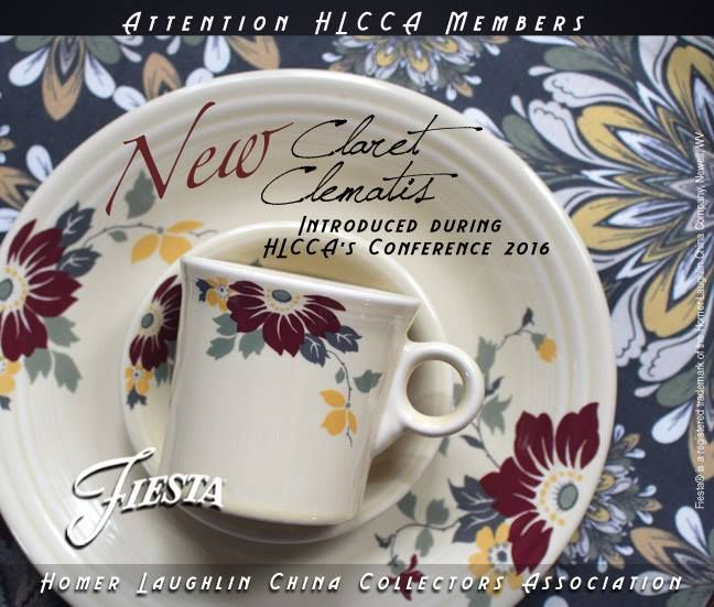 Fiesta® Claret Clematis Dinnerware made by Homer Laughlin China Company
