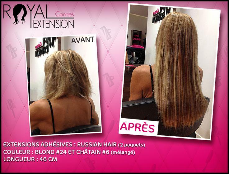 Extensions de cheveux bandes adhésives TAPE en cheveux russes ! http://www.royalextension.com/fr/catalogue/produit/extensions-adhesives-/-tape-raides-46-cm-russian-hair.38-401.html