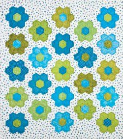No Fuss Grandmother's Flower Garden #Quilt #tutorial from Accuquilt