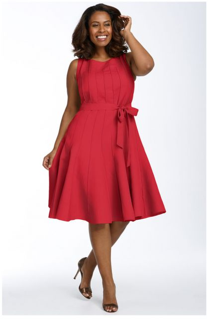 Red Calvin Klein Dress For Plus Size Women