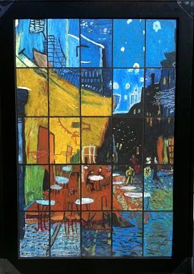 This lesson takes famous art, divides it into squares and has students reproduce the squares to be finally reassembled to form a group effort work.