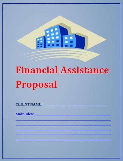 Financial Assistance Proposal Template