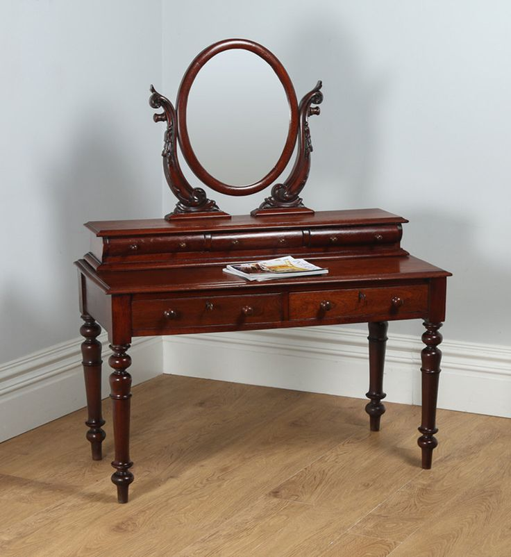 Antique Victorian Anglo Indian Colonial Teak Dressing Table With Mirror (Circa 1860) by YolaGrayAntiques on Etsy https://www.etsy.com/listing/478580132/antique-victorian-anglo-indian-colonial