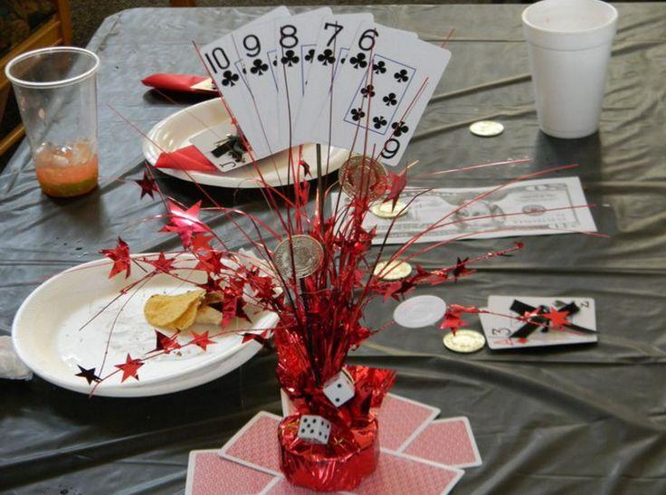 Casino themed wedding centerpieces