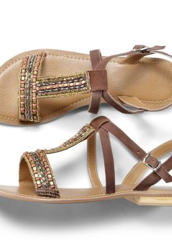 Ploché sandály #ModinoCZ #sandals #shoes #fashion #brown #hneda #boty #sandaly #moda