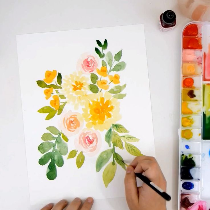 How To Paint a Loose Watercolor Dahlia Bouquet | #WATERCOLOR #TUTORIAL – YouTube