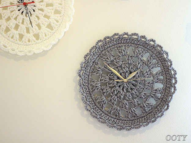 Crocheted Doily Clock | 19 Impossibly Clever Knitting And Crochet Patterns