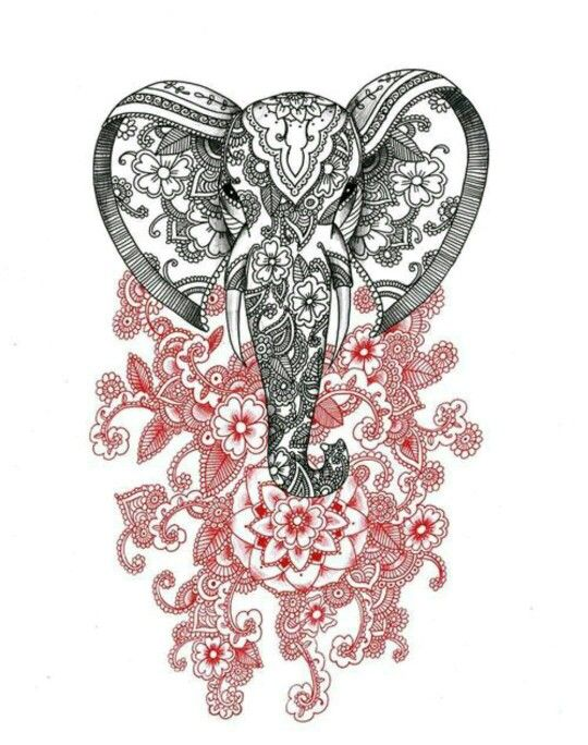 Hamsa elephant tattoo idea