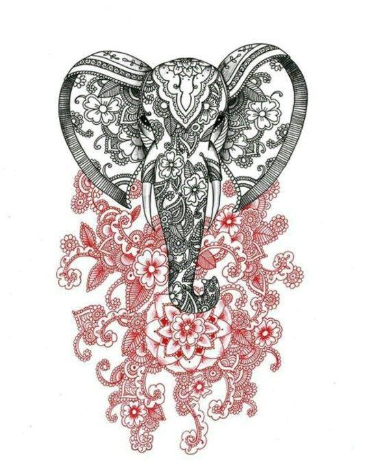 Hamsa elephant tattoo idea
