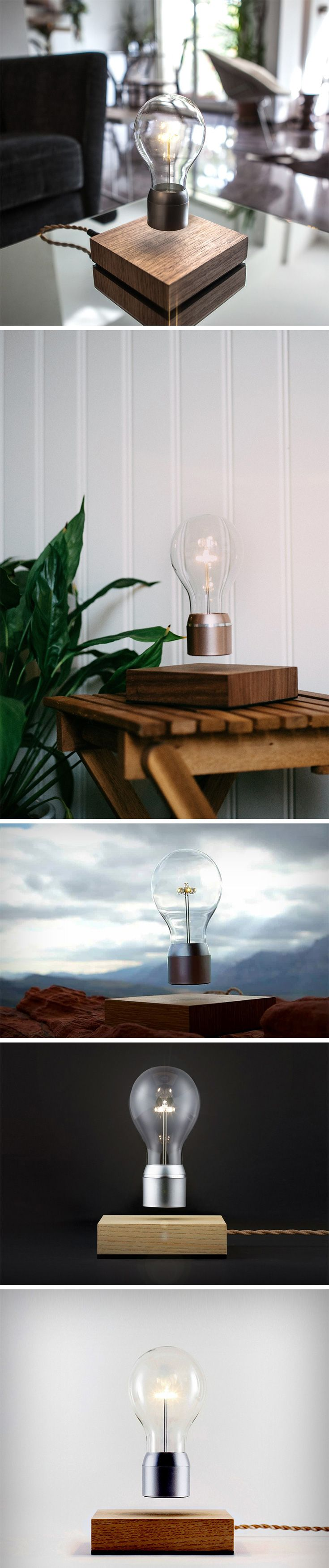 The Flyte lamp does something mysterious. Not only does it host an incandescent bulb that flats over its wooden base, the bulb also magically lights up with invisible wireless electrical energy that travels through air from the base till the bulb! A completely surreal experience, the Flyte lamp feels like the lovechild of a Salvador Dali and Nikola Tesla romance.
