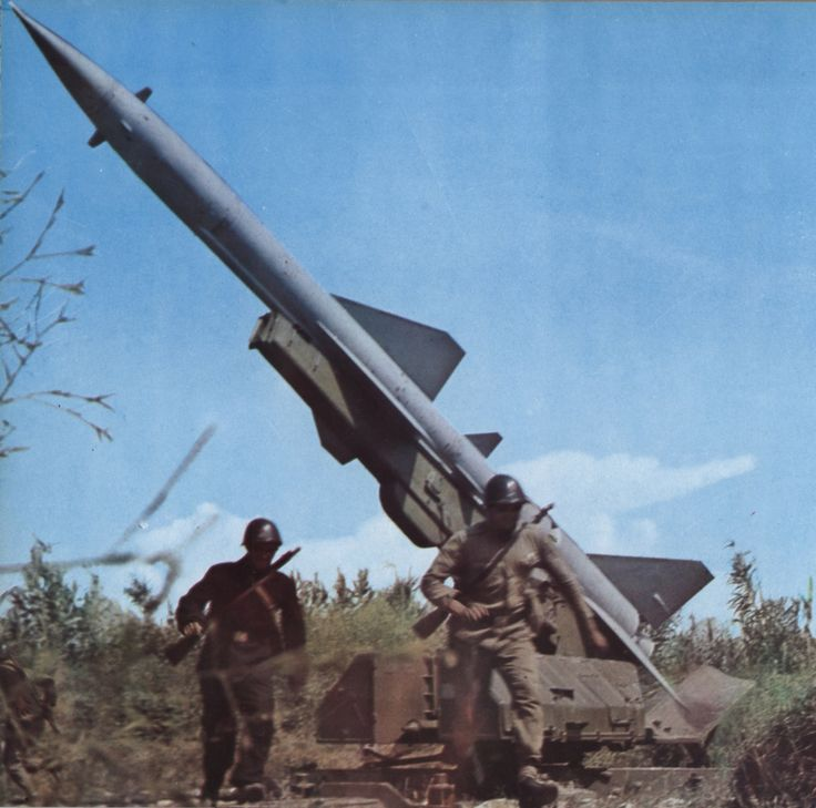 S-75 Dvina surface-to-air missile of the Albanian People`s Army.