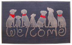 """Door Mats For Dogs Dog Tail """"welcome"""" Rubber Doormat   Contemporary   Doormats"""