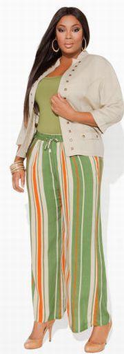 Модные летние костюмы для полных 2015 [фото]