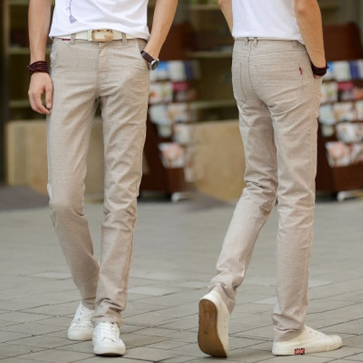 man khaki long trousers mens linen pants fashion mens pants 2017 free ship