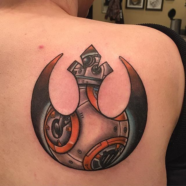 Rebel Alliance Symbol and BB-8 Tattoo