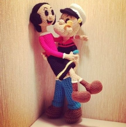amigurumi popeye  #crochet #knitting #tricot #tricotin ...