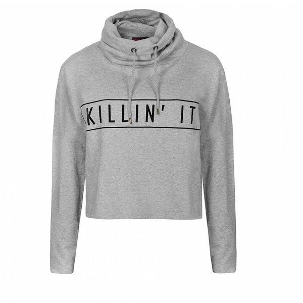 Ally Fashion Cowl neck graphic hoodie ($14) ❤ liked on Polyvore featuring tops, hoodies, sweaters, sweatshirts, jumpers, long sleeve hoodie, hooded sweatshirt, graphic hoodies, pullover hooded sweatshirt and cropped hoodie sweatshirt