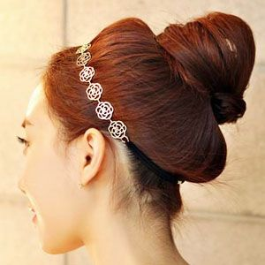 Golden Rose Chain Hoop Hairband