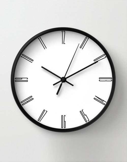 Tall numbers wall clock, minimalist decoration, classic wall clocks, black numbers, unique wall clock by LazyLittleLuckyGirl on Etsy https://www.etsy.com/listing/217292994/tall-numbers-wall-clock-minimalist