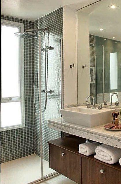 Ideias De Decoração Para Banheiros : Melhores imagens de banheiros pequenos no