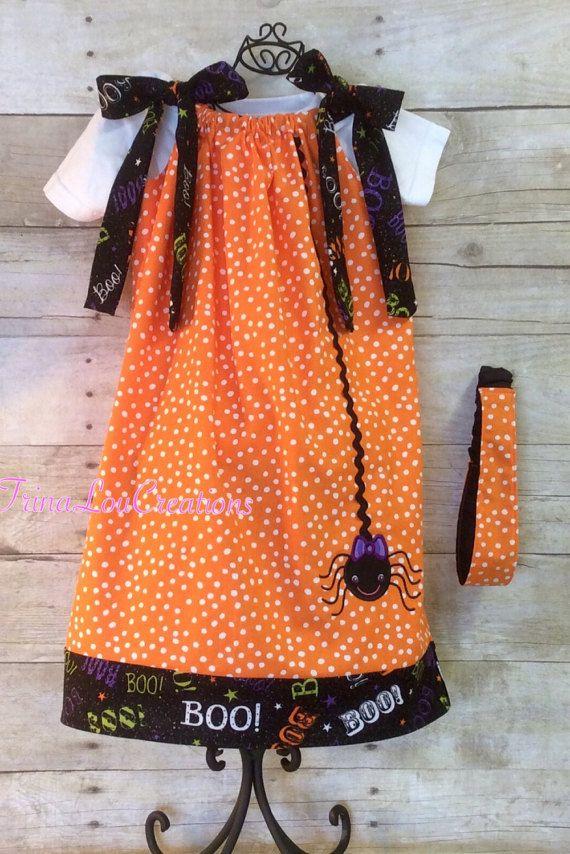 Halloween Pillowcase Dress Applique Dress by TrinaLouCreations