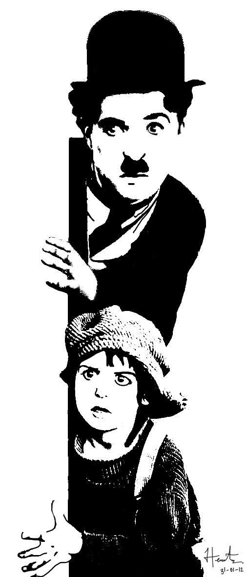 Stencil Chaplin by Héctor Hernández, via Behance