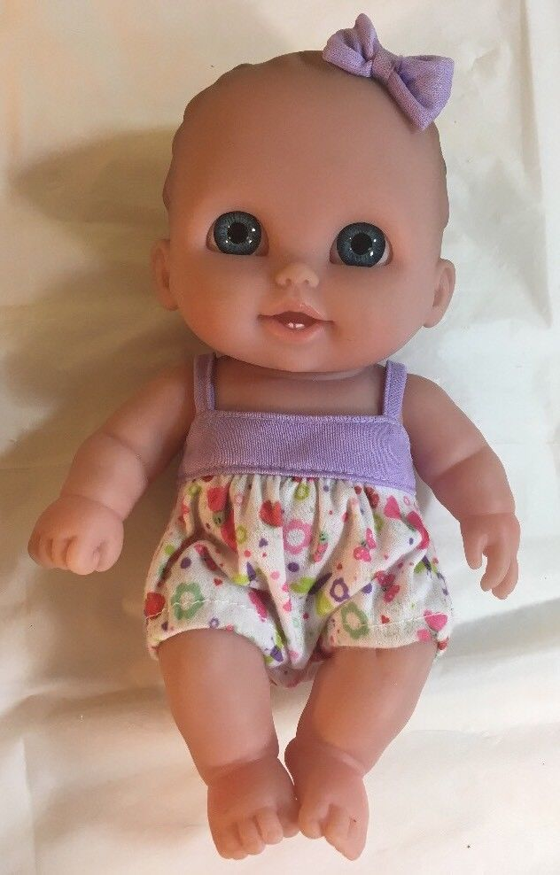 Berenguer Baby Doll 15 11 3 Blue Acrylic Inset Eyes 9 Brown Hair W