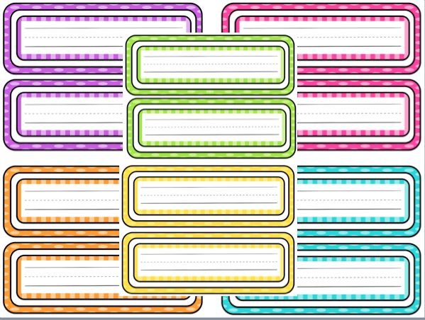 Student Name Plates: Free Printable Polka-dot Name Tags!