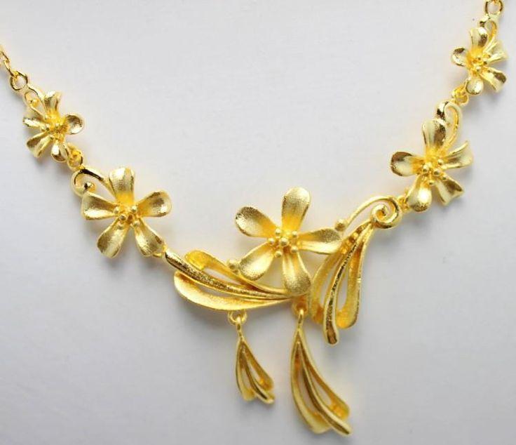 Flower Wedding Gold Necklace